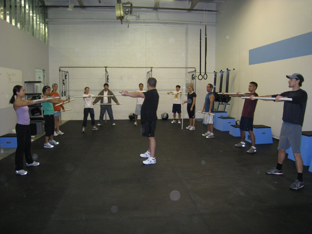 Doug teaching our mobility warm up