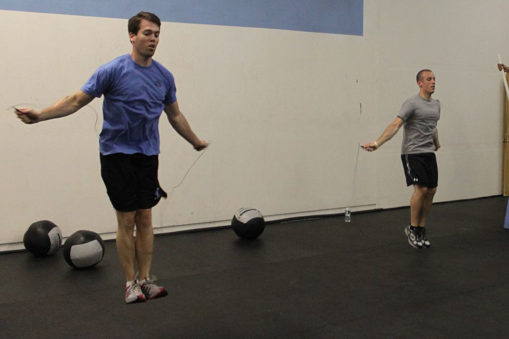 Brian and Ant cranking out double unders