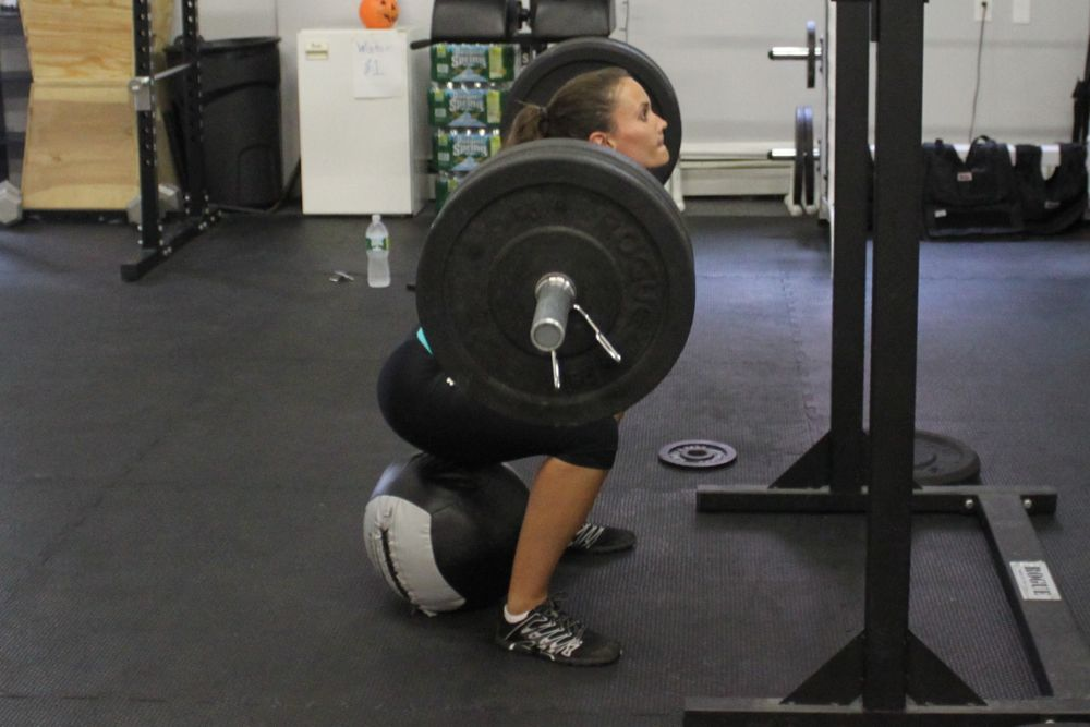 Erin moving 155lbs around like it's nothing.