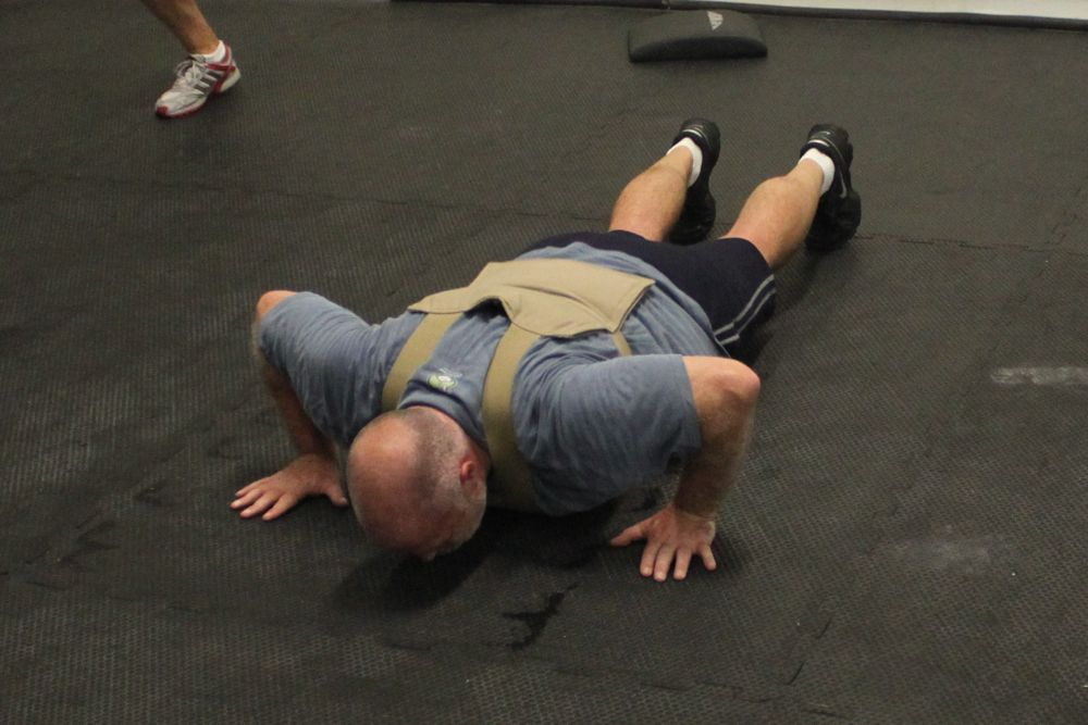 Matt S illustrating a chest-to-deck push up