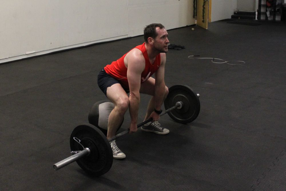 Eric showing very good sumo deadlift high pull form