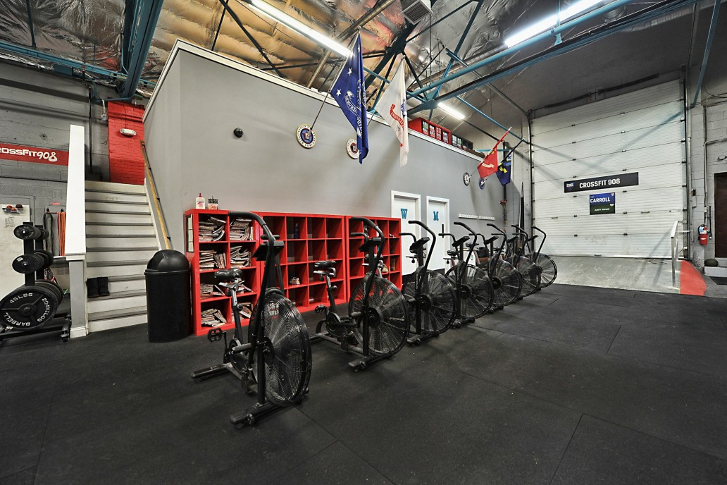 assault bikes front and facility from entrance